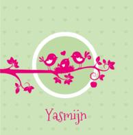 Vogeltjes roze Yasmijn