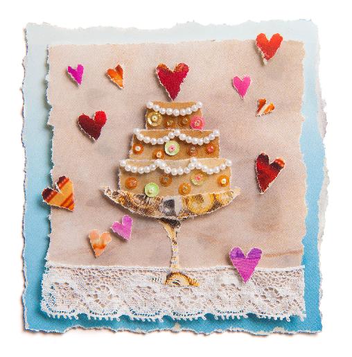 voorkant Trouwkaart bruidstaart